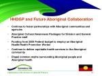hhdgp and future aboriginal collaboration