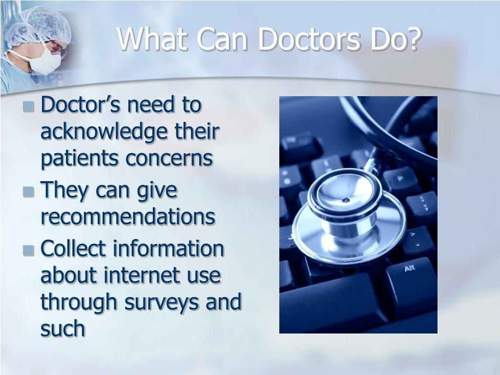 What Can Doctors Do?