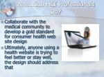 what can hci professionals do