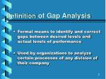 definition of gap analysis
