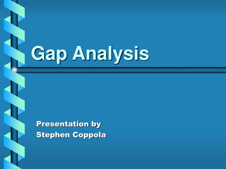gap analysis n.