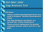 iso 9001 2000 gap analysis tool5
