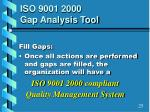 iso 9001 2000 gap analysis tool6