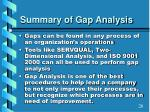 summary of gap analysis