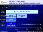 prove 2 t laprevir malades g1 na fs etude europ enne 1