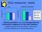 egg measures males