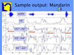 sample output mandarin