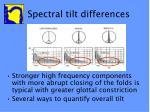 spectral tilt differences