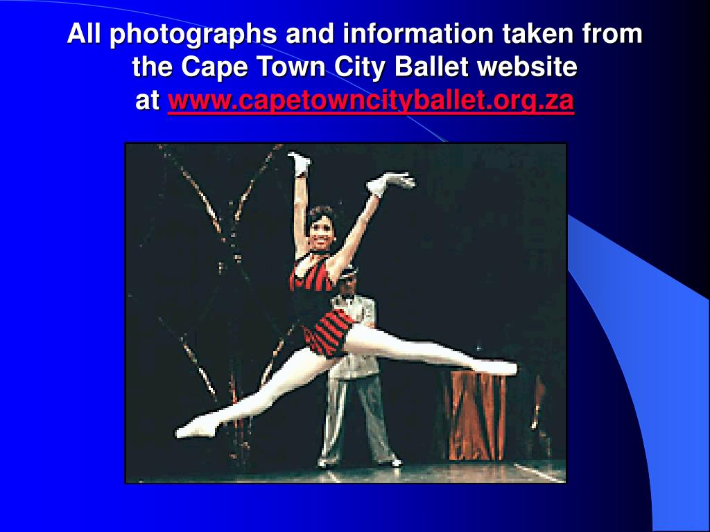 All photographs and information taken from the Cape Town City Ballet website