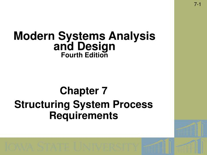 chapter 7 structuring system process requirements n.