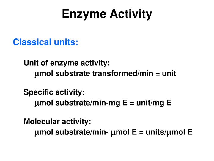 Enzyme activity1