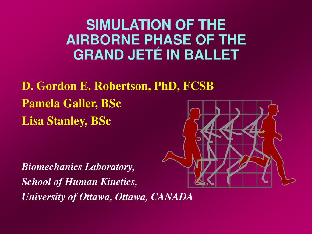 simulation of the airborne phase of the grand jet in ballet