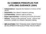 eu common principles for lifelong guidance 2004