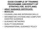 good example of training programme university of strathclyde scotland