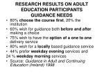 research results on adult education participants guidance needs