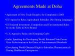 agreements made at doha