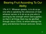 bearing fruit according to our ability2