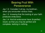 bearing fruit with perseverance