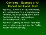 cornelius example of an honest and good heart