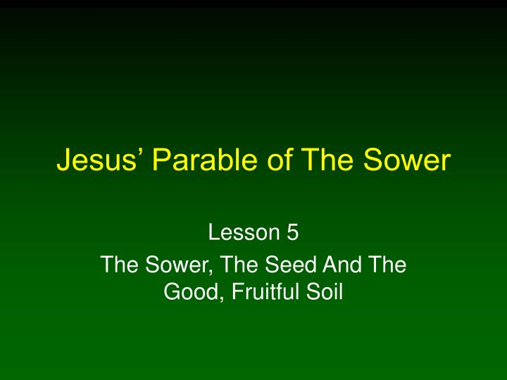 jesus parable of the sower n.