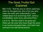 the good fruitful soil explained2