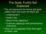 the good fruitful soil explained3
