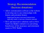 strategy recommendation increase donations