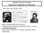 kinetic theory of gases maxwell s probability distribution
