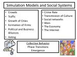 simulation models and social systems