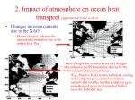 2 impact of atmosphere on ocean heat transport interannual time scales