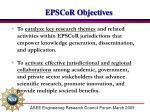 epscor objectives