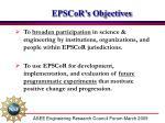 epscor s objectives