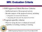 mri evaluation criteria