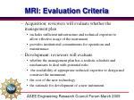 mri evaluation criteria1