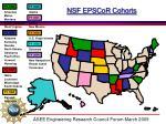 nsf epscor cohorts