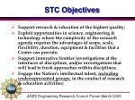 stc objectives