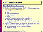 cmc assessment
