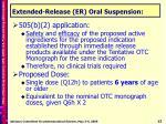 extended release er oral suspension