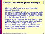 revised drug development strategy