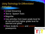 using technology for differentiated instruction