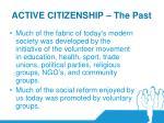 active citizenship the past