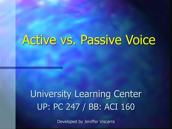 active vs passive voice n.
