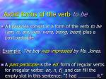 avoid forms of the verb to be