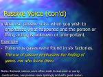 passive voice con d