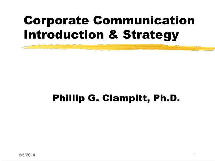 corporate communication introduction strategy n.