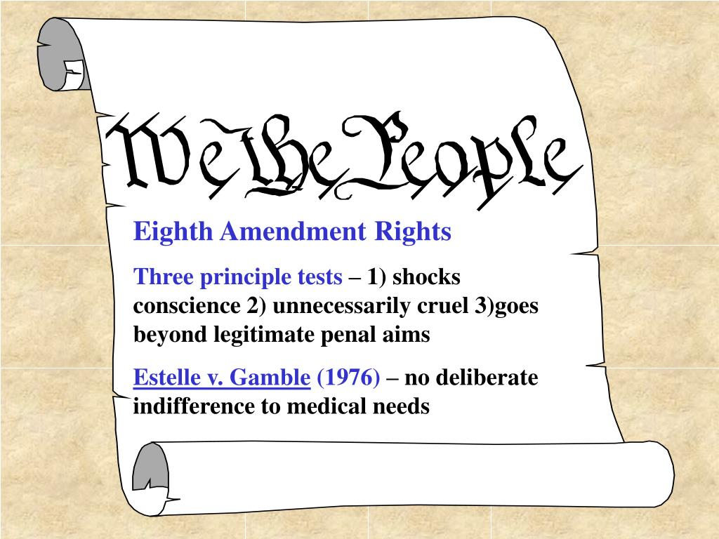 Eighth Amendment Rights