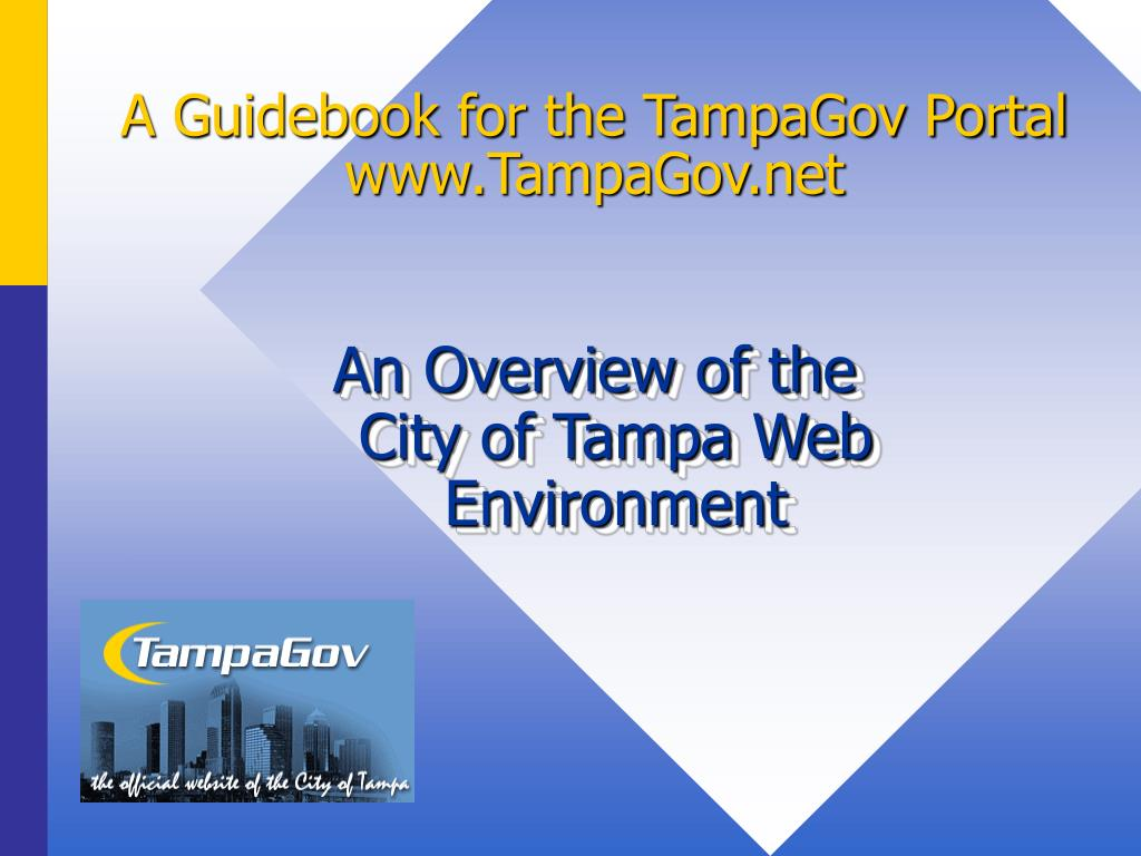 A Guidebook for the TampaGov Portal