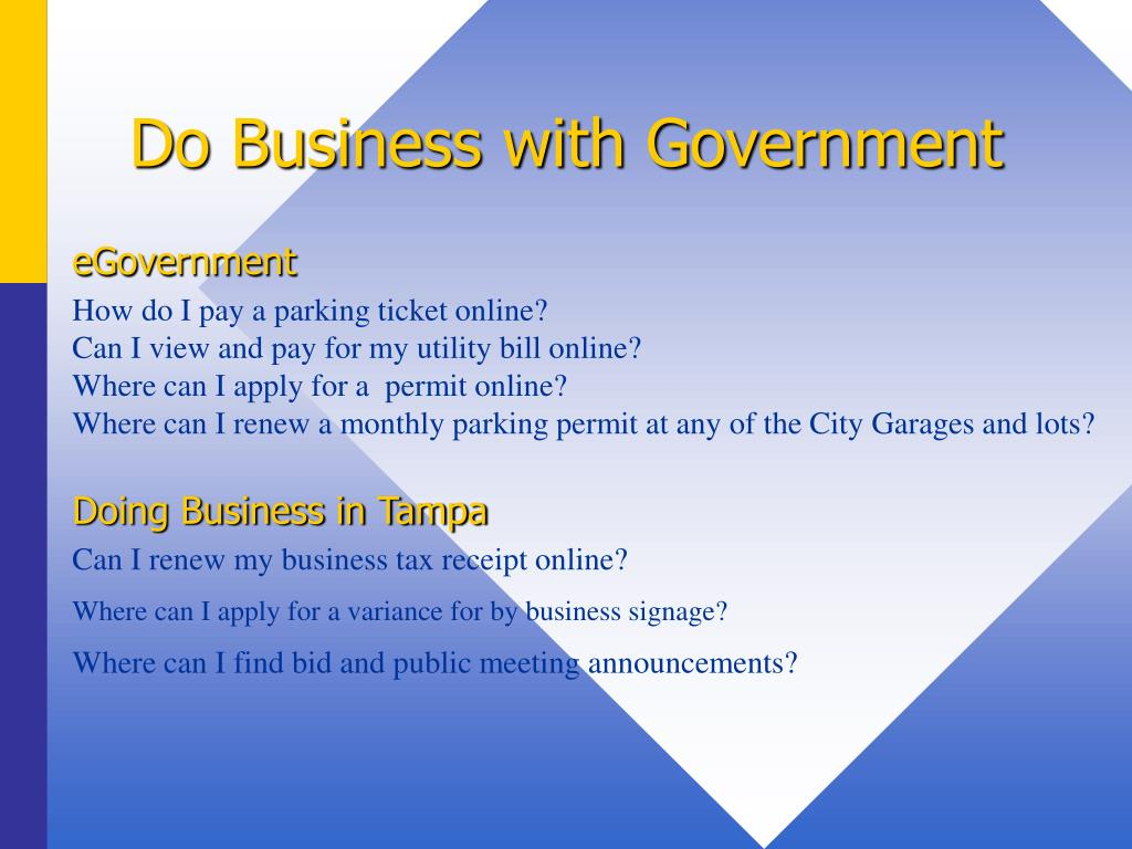 Do Business with Government