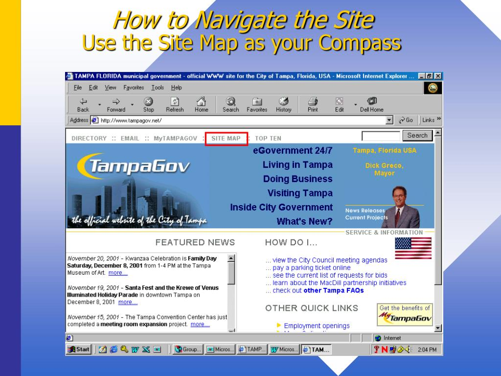 How to Navigate the Site
