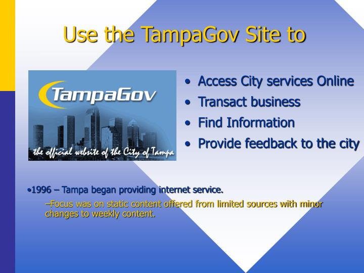 Use the tampagov site to
